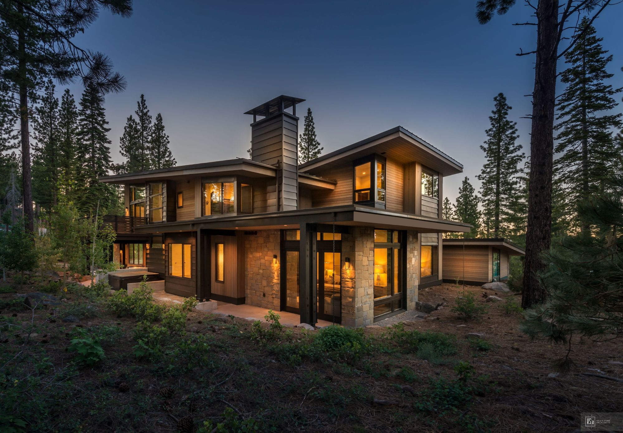Martis Camp Lot 584 Kelly Stone Architects Modern Style House Plans Contemporary House Plans Modern Architecture House