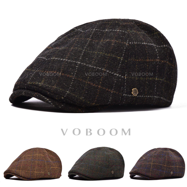 26b779d97 Voboom Men's Irish Wool Winter Hat Duckbill Ivy Flat Capsboy Gatsby ...
