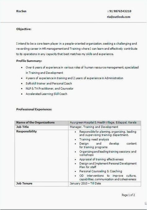 70 cool photography of resume samples for teachers in kerala