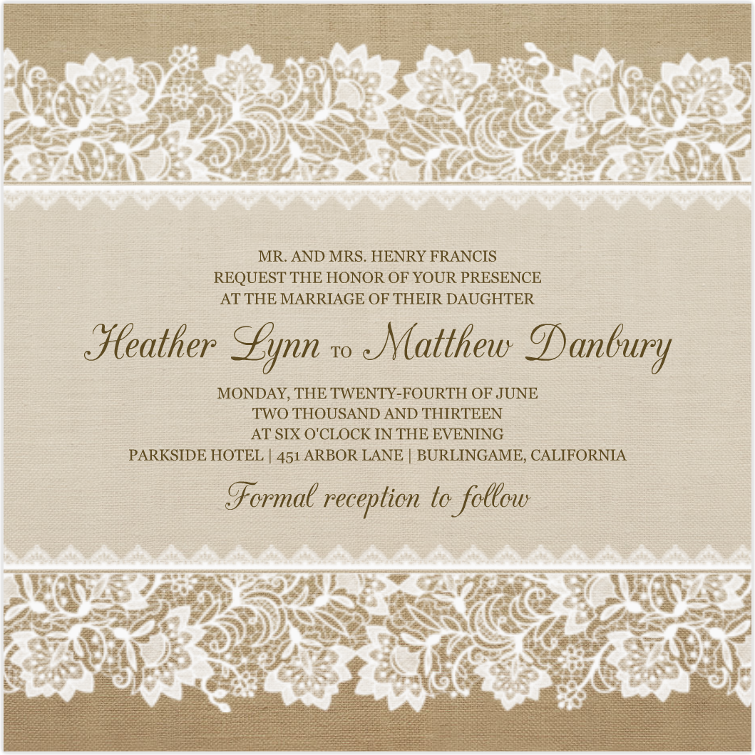 1000 images about Tarjetas – Lace for Wedding Invitations