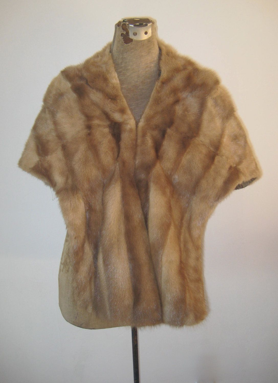 vintage mink holiday, stole, wrap, evening wear, gift for her, mad men mink. $150.00, via Etsy.