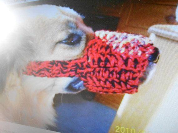 Crochet dog muzzle by stephsyaya on Etsy, $7.00 | Dog muzzle ...