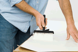 Learn How To Paste Wallpaper Without Getting The Paste Over The Table In This Diy Painting And Decorating Gui Homemade Wallpaper Wallpaper Paste Diy Wallpaper