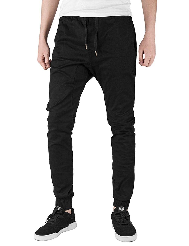 Stylish Men/'s Casual Pants Chino Jogger Biker Pant Slim Fit Gym Jogging Pants