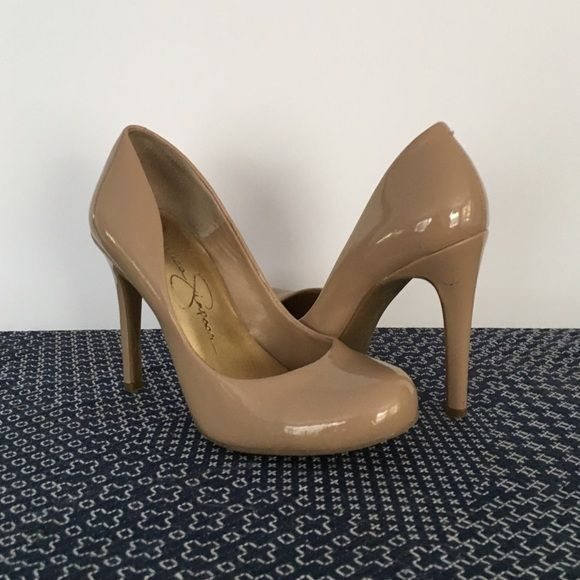23572c13342 Jessica Simpson Nude High Heels 4