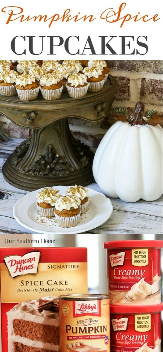 Semi-Homemade Mini Pumpkin Spice Cupcakes - Our Southern Home