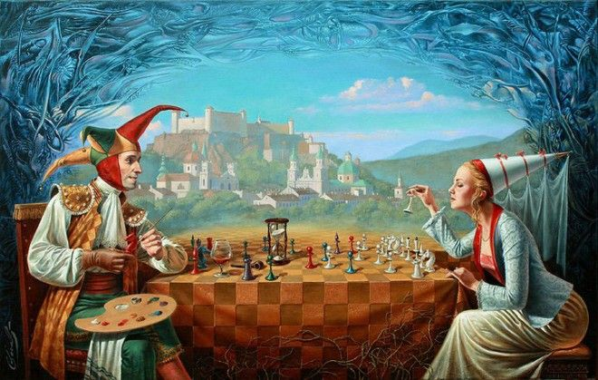 Illusion Art : Michael Cheval is the world's leading contemporary artist, specializing in Absurdist paintings, drawings and portraits. Description from webneel.com. I searched for this on bing.com/images