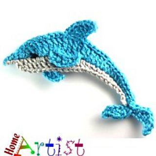 Dolphin + Sea star applique pattern by Homeartist crochet ...