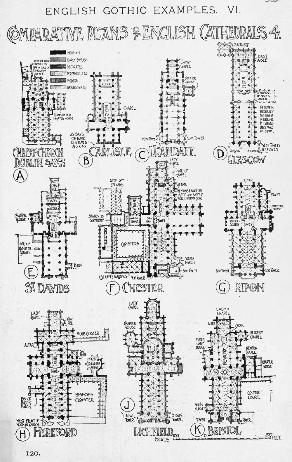 Comparative Plans Of English Gothic Cathedrals A History Of Architecture On The Comparative Method By Sir B How To Plan Gothic Cathedrals European Architecture