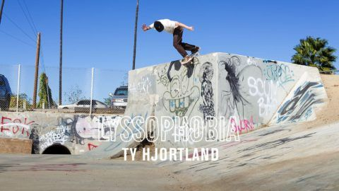 Ty Hjortland in LYSSOPHOBIA | TransWorld SKATEboarding: Your new favorite… #Skatevideos #Hjortland #LYSSOPHOBIA #skateboarding #transworld