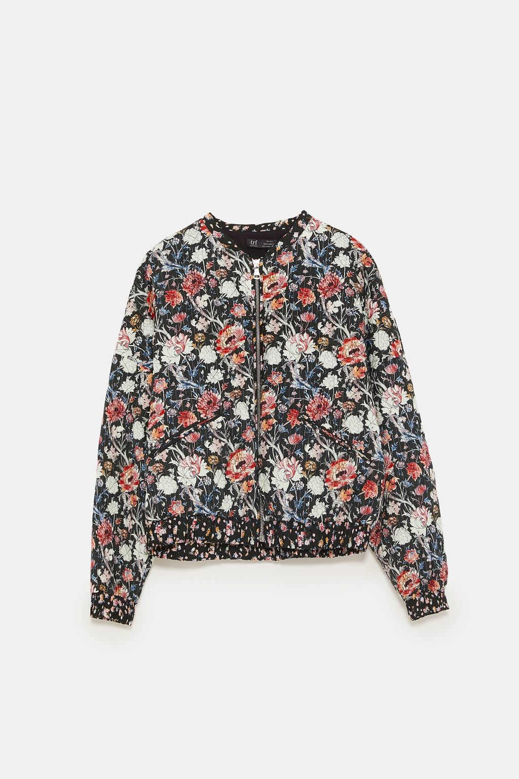 070296dfa Image 8 of PRINTED QUILTED BOMBER JACKET from Zara | Clothes ...