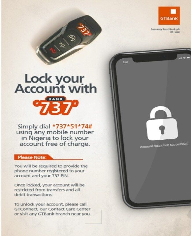 How to Lock Your GTBank Account with 737 to Prevent