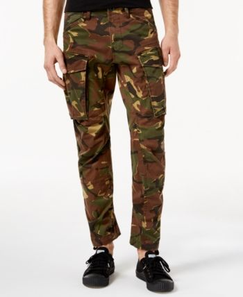 G Star Raw Men's Tapered Fit Stretch Camo Cargo Pants