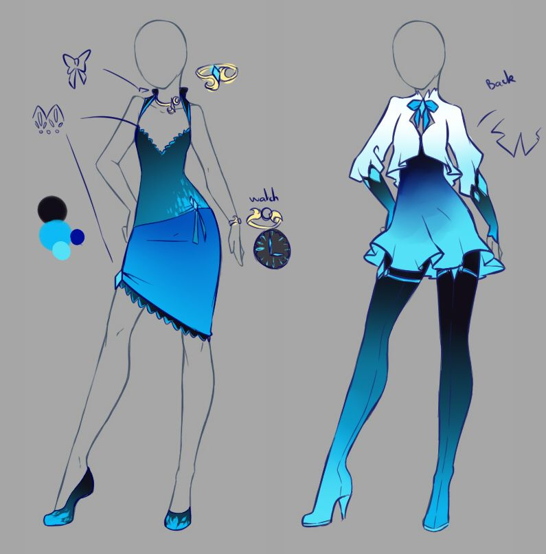 January Commissions 4 By Rika Dono On Deviantart Anime Outfits Fashion Design Drawings Anime Dress