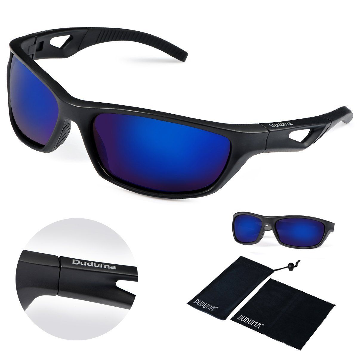 0fb0357490 Amazon.com  Duduma Polarized Sport Mens Sunglasses for Baseball Fishing  Golf Running Cycling with Fashion Design Full-Rimmed Women Sunglasses and  Men ...