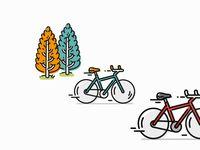 Bicycle Race  -  bicicleta  bicycle  bike  icon  illustration  minimal  tree  vector  велосипед  自行车