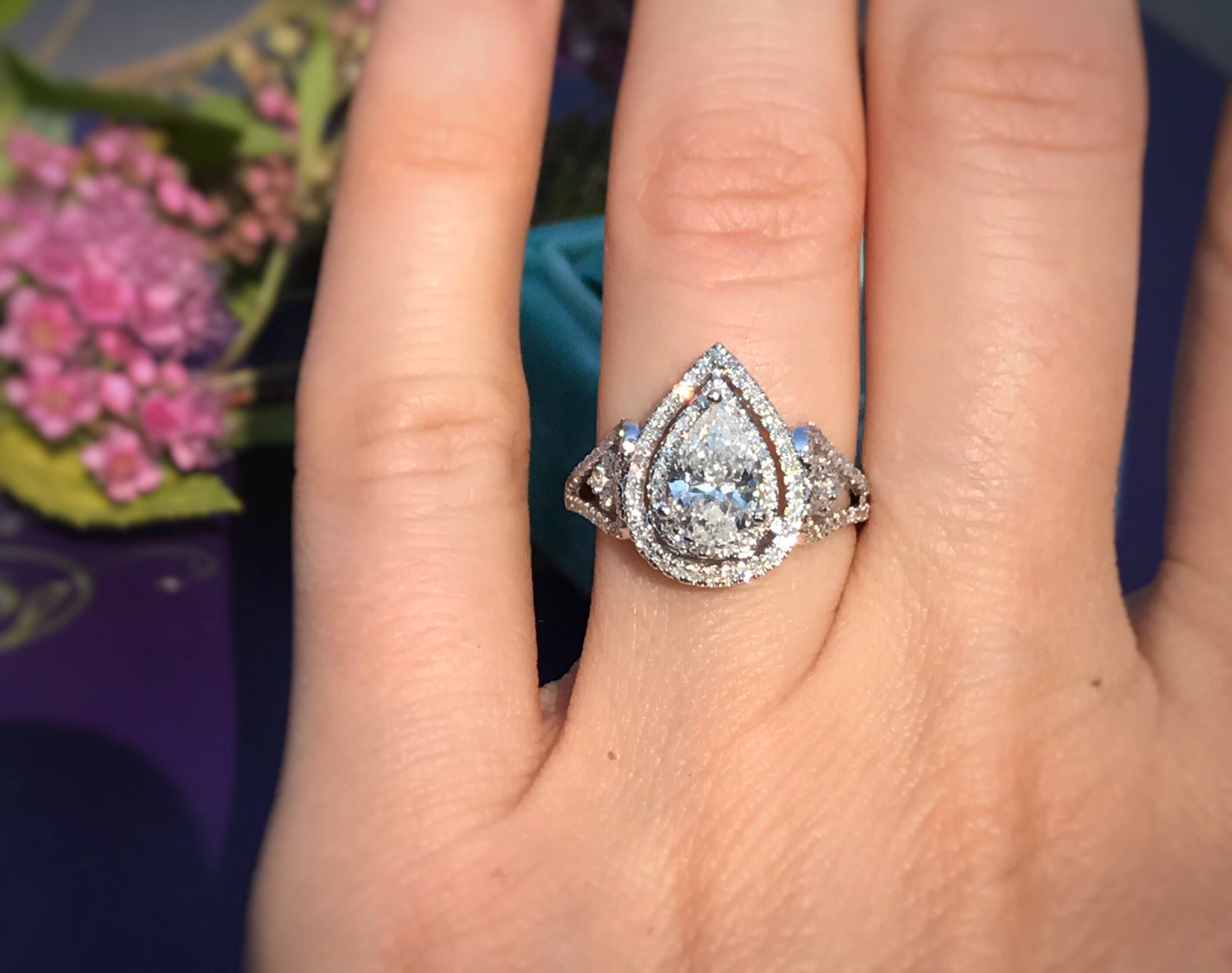 products diamond shaped wedding sparkles anniversary promise zirconia cubic pear susan ring vintage rings fashion cz faux engagement carat beloved