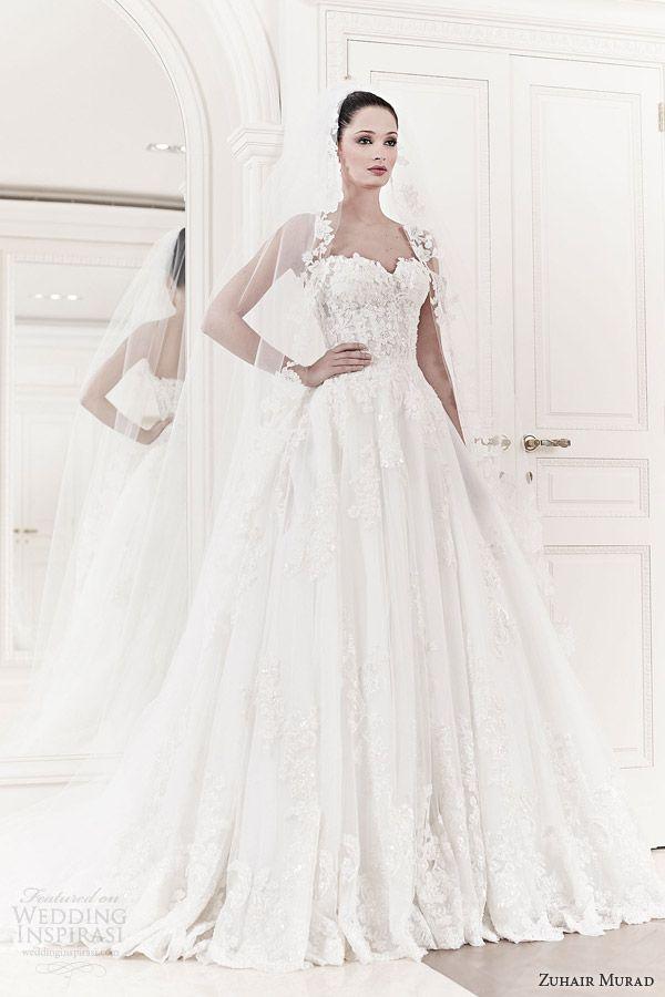 5750a3eb74a zuhair murad wedding dresses 2014 bridal allegra strapless ball gown.