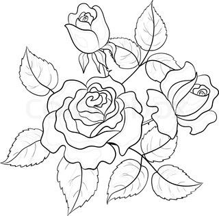 Pin By Kristin Vogel On Art Inspiration Flower Drawing Embroidery Flowers Pattern Coloring Pages