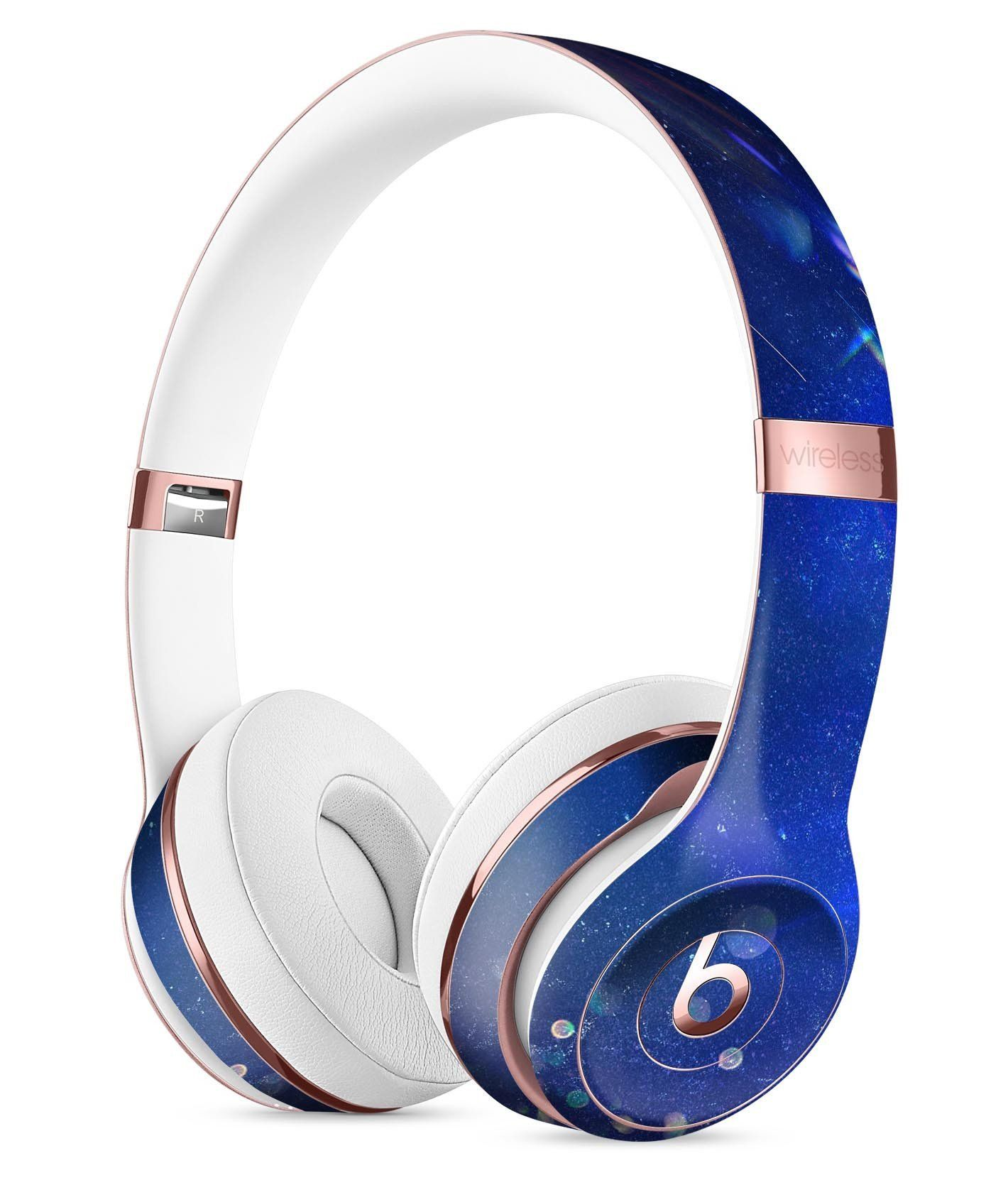Deep Blue Unfocused Scratches Full-Body Skin Kit for the Beats by Dre - Ultra High-Gloss / Solo/SoloHD