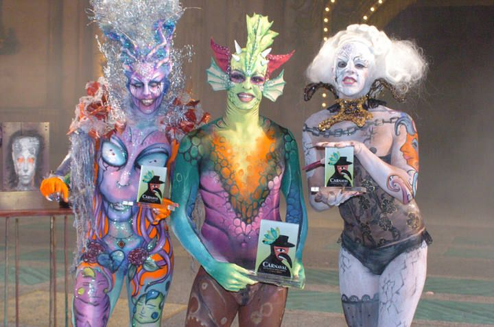 Concurso de maquillaje corporal del Carnaval