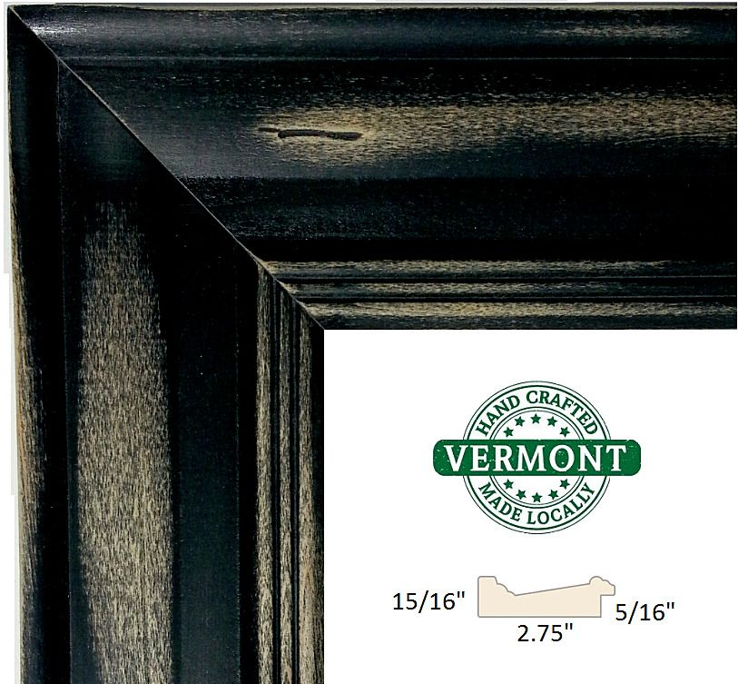 SALE* Set of 2 - 16x20 Distressed Rustic Black Picture Frames w ...