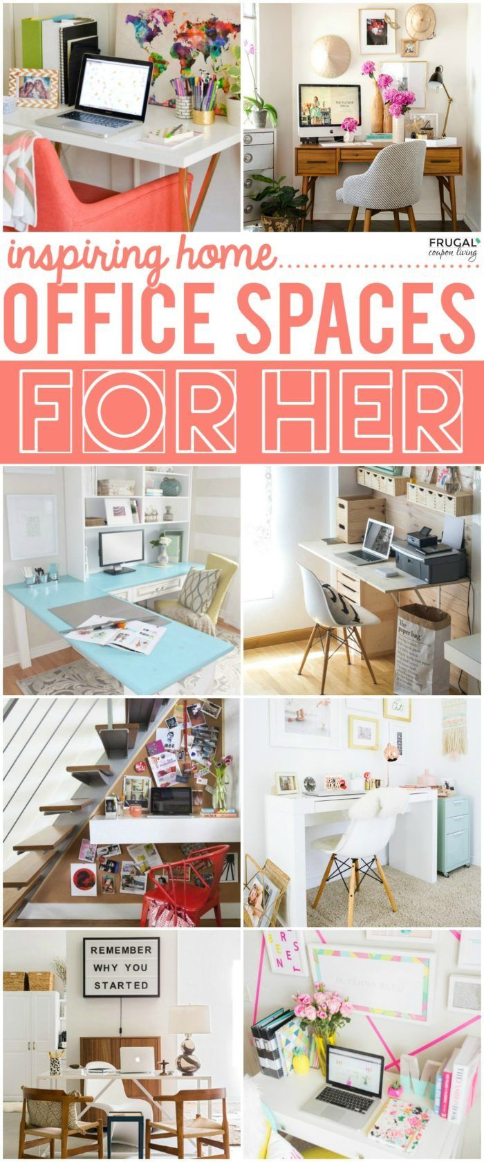 Amazing Frugal Home Decorating Ideas Part - 9: Inspiring Home Office Decor Ideas For Her