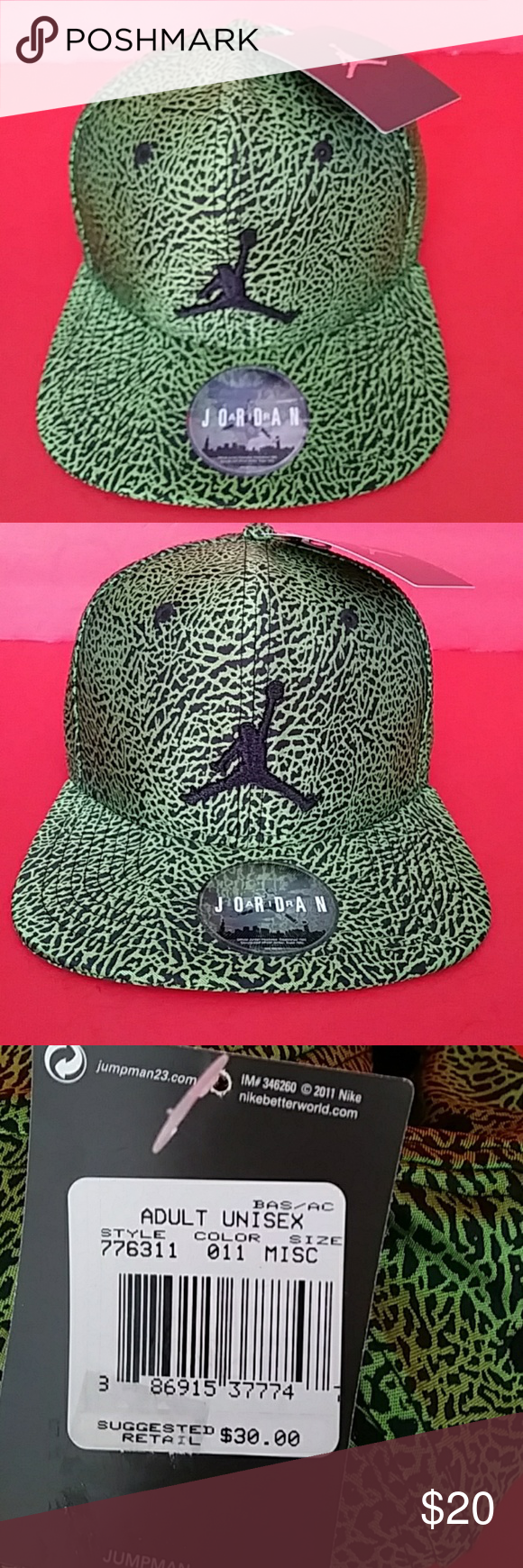 702a3c85bc0 BRAND NEW AIR JORDAN. Hat 100% AUTHENTIC NIKE. AIR JORDAN. BAS  AC. HAT  ADULT UNISEX FOR BAS AC SNAPBACK REASONABLE OFFICE IS WELCOME Accessories  Hats