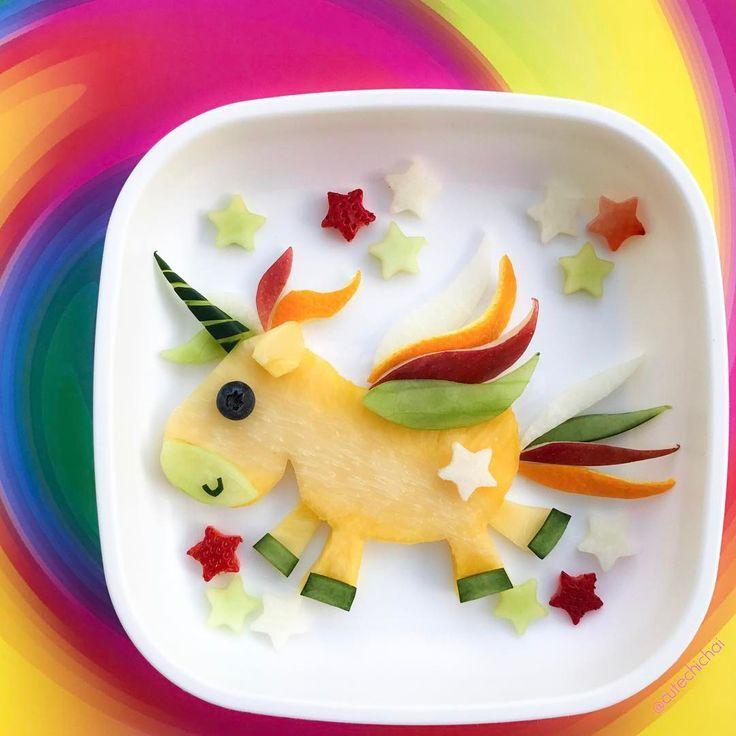 fruit unicorn by m i c h a e l a cutechichai food art. Black Bedroom Furniture Sets. Home Design Ideas