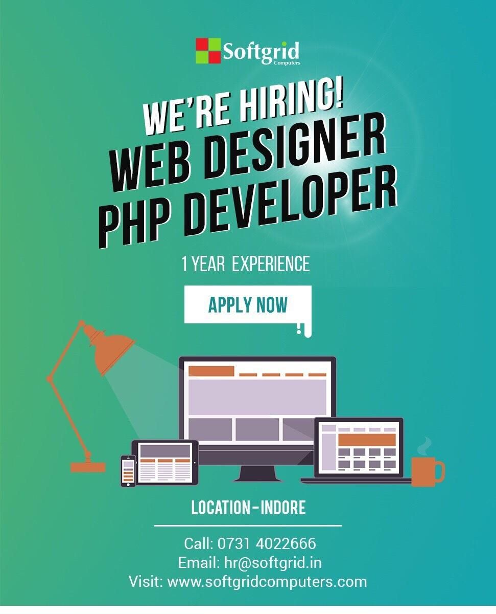 We Are Hiring For Web Designer And Php Developer We Are Hiring Web Design Development