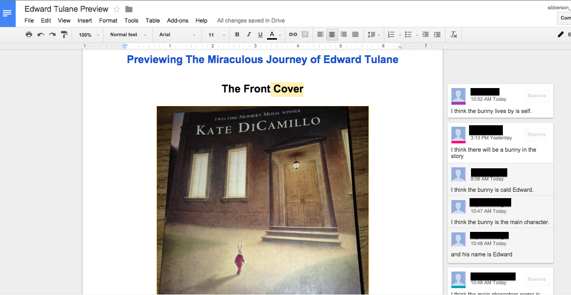 A Year of Reading: Google Drive in the 3rd Grade Classroom