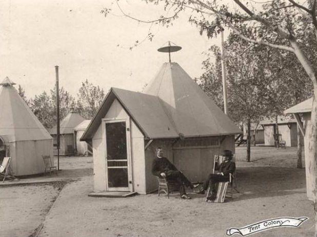 SANITARIUM Tent Colony ~ Penrose TB Sanitarium ~ Colorado Springs Colorado 1913 & SANITARIUM: Tent Colony ~ Penrose TB Sanitarium ~ Colorado Springs ...