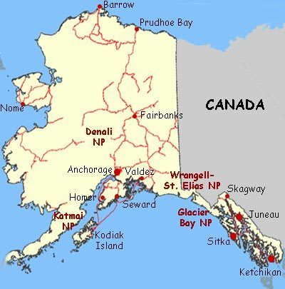 alaska map - Google Search | USA ALASKA | Pinterest | Alaska highway ...