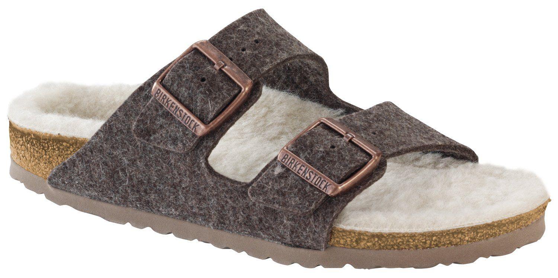 Womens sandals narrow - Birkenstock Arizona 1002085 Narrow Fit Cacao Happy Lamb Beige Womens Sandals 39 Eu