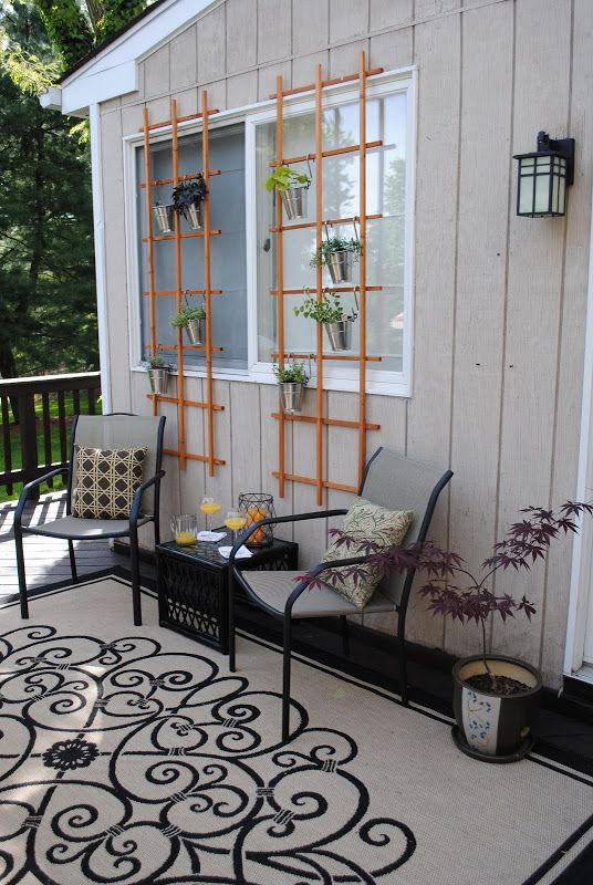 DIY Deck Update: Trellis Seating Area