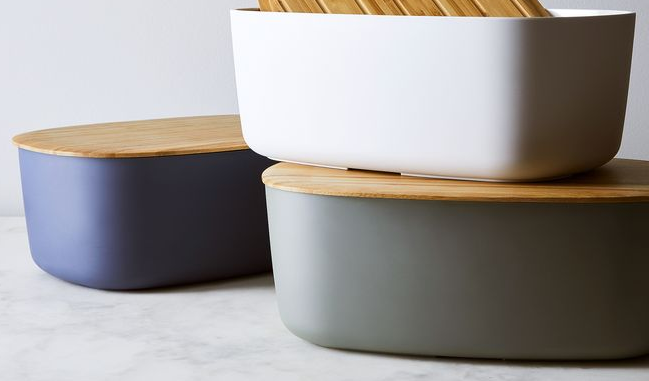 Pin By April Brown On Slate Kitchen Modern Bread Boxes Bread