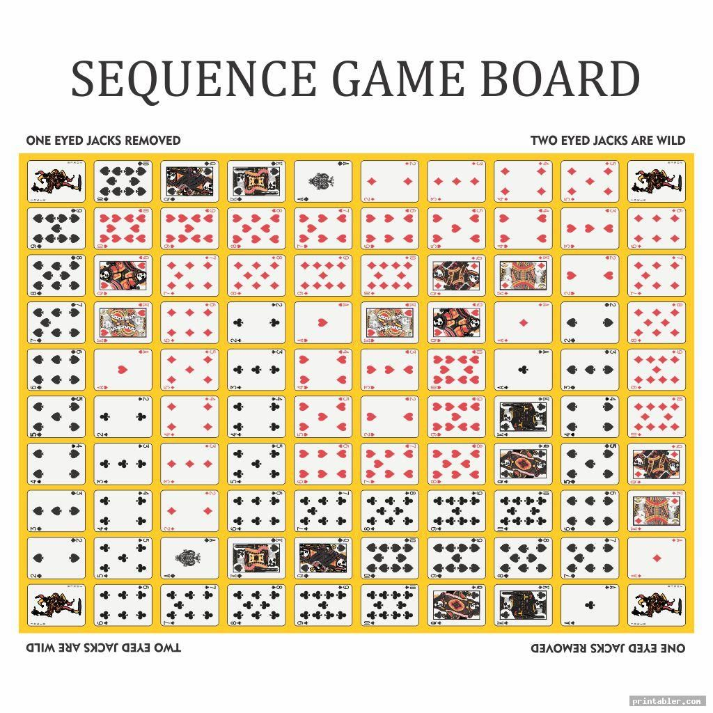simple sequence game board layout printable printabler
