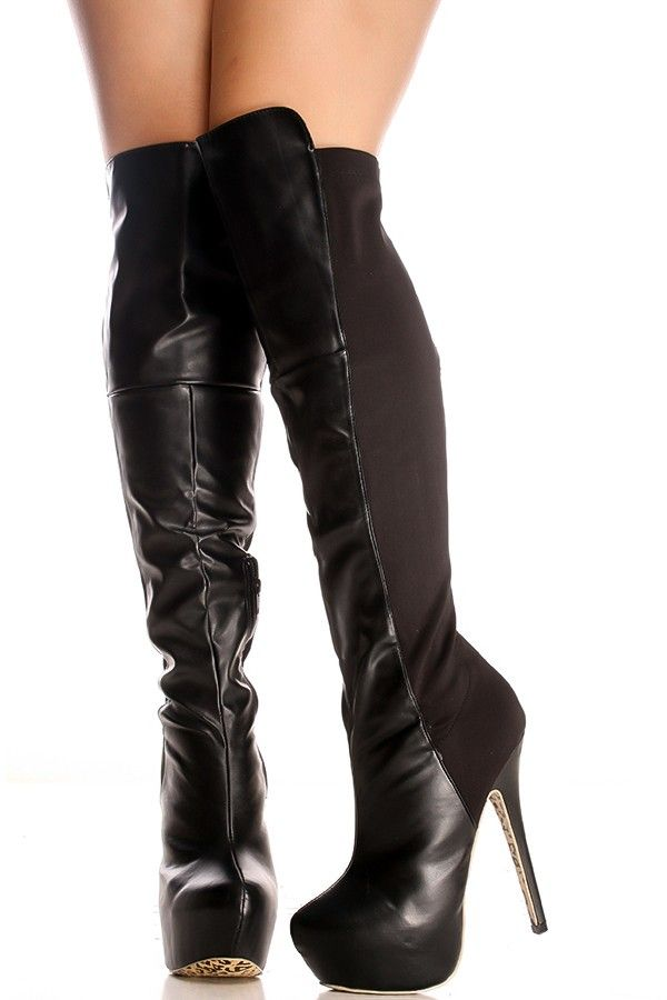 eab8abfa1d60 16  These over the knee boots feature a faux leather material