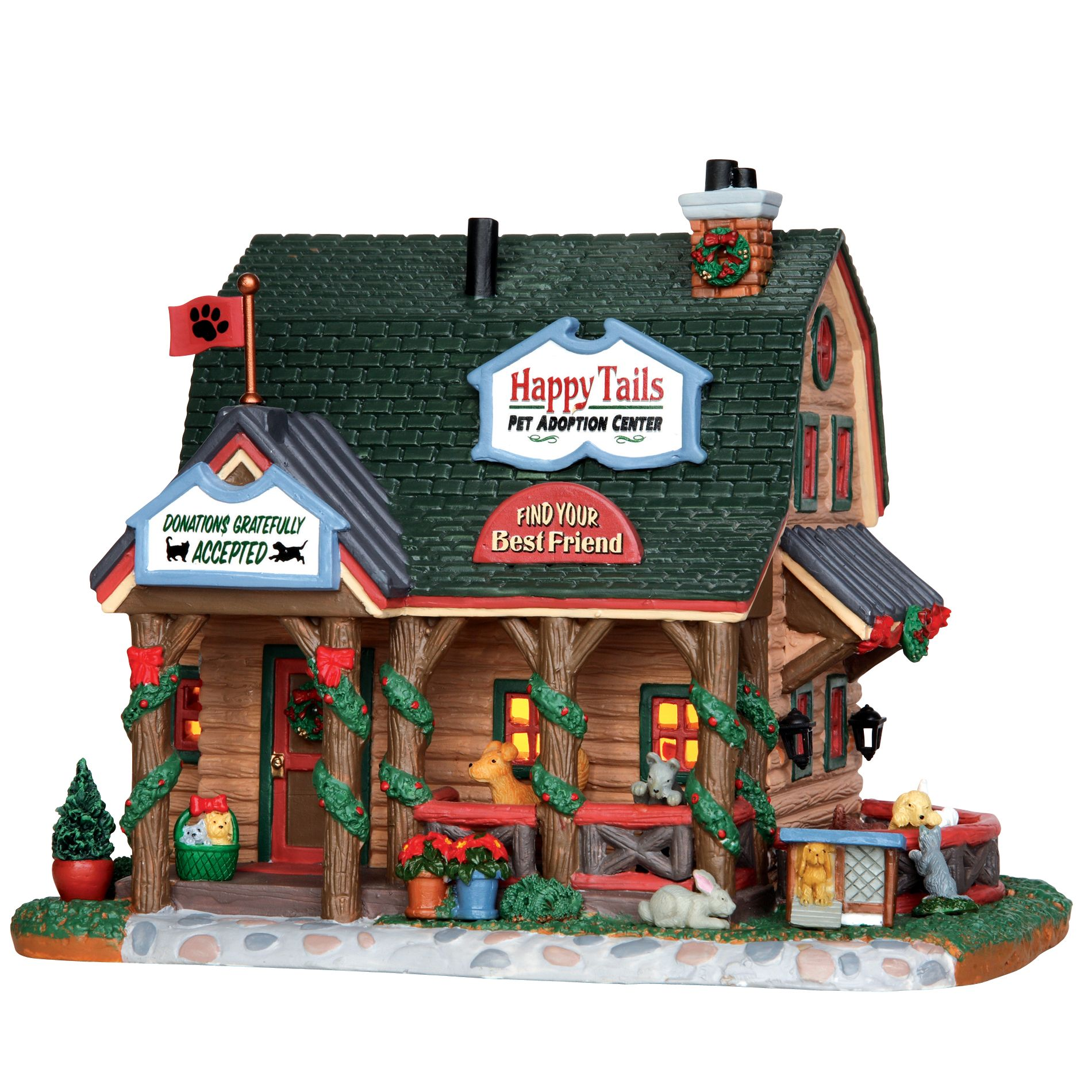 Lemax Village Collection Christmas Village Building, Happy Tails ...