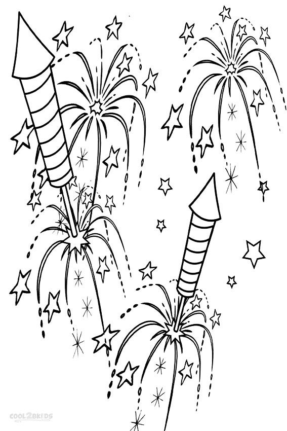Printable Fireworks Coloring Pages For Kids Cool2bkids Firework Colors Fireworks For Kids Fireworks Art