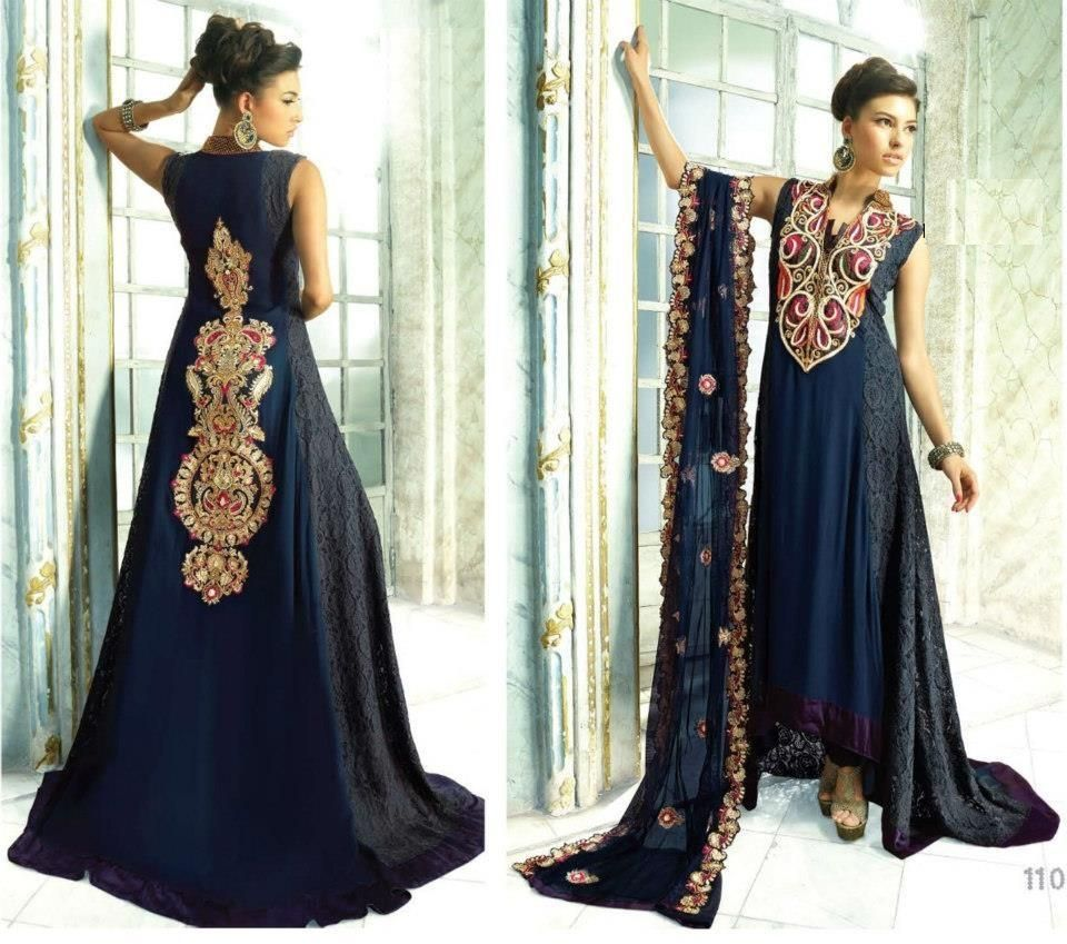 Latest Trend Of Bridal Maxi Dresses In Pakistan 2015