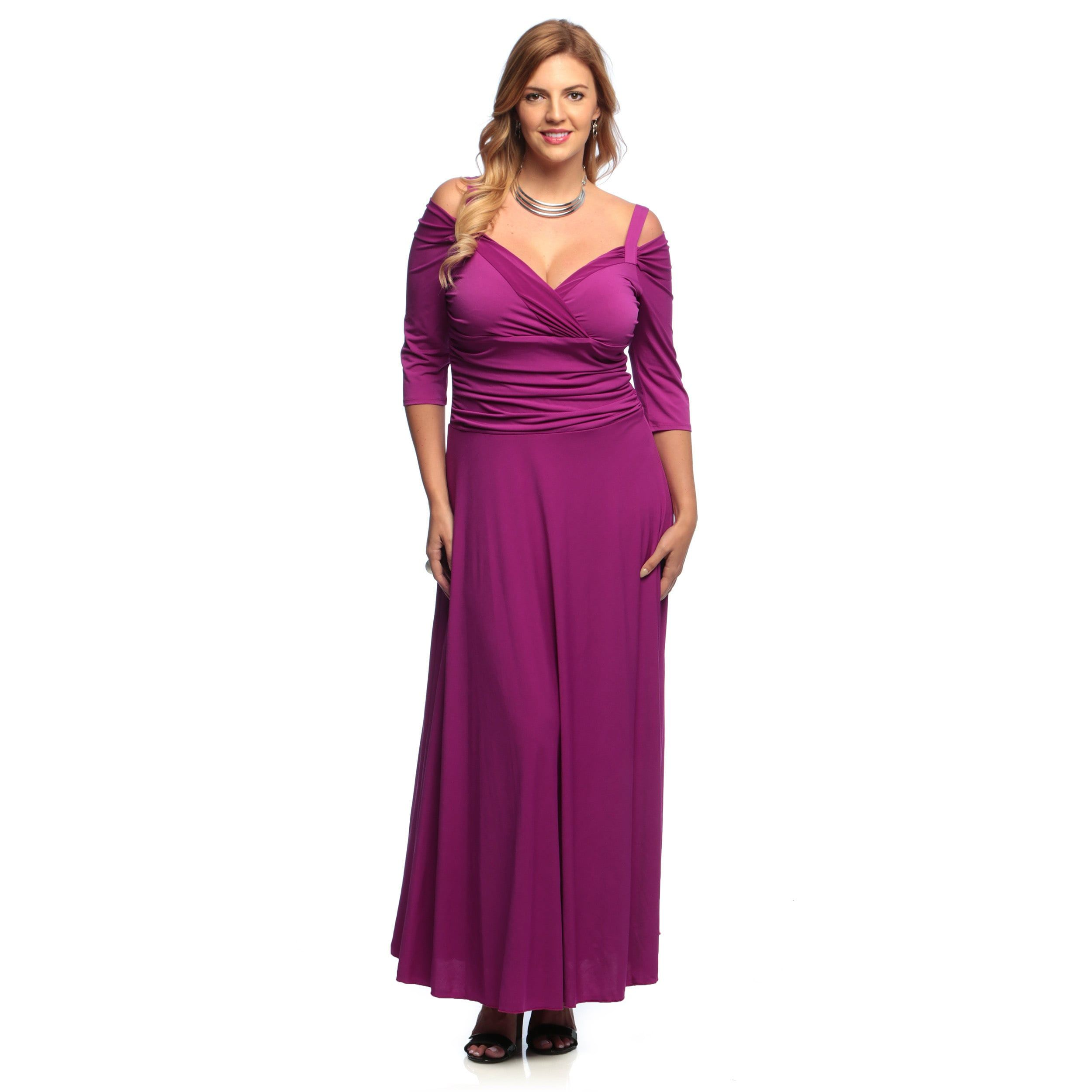 Evanese Women\'s Plus Size 3/4-sleeve Long Dress | Products | Pinterest