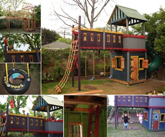 Castle Playhouse Swing Set Tutorial Favorite Places