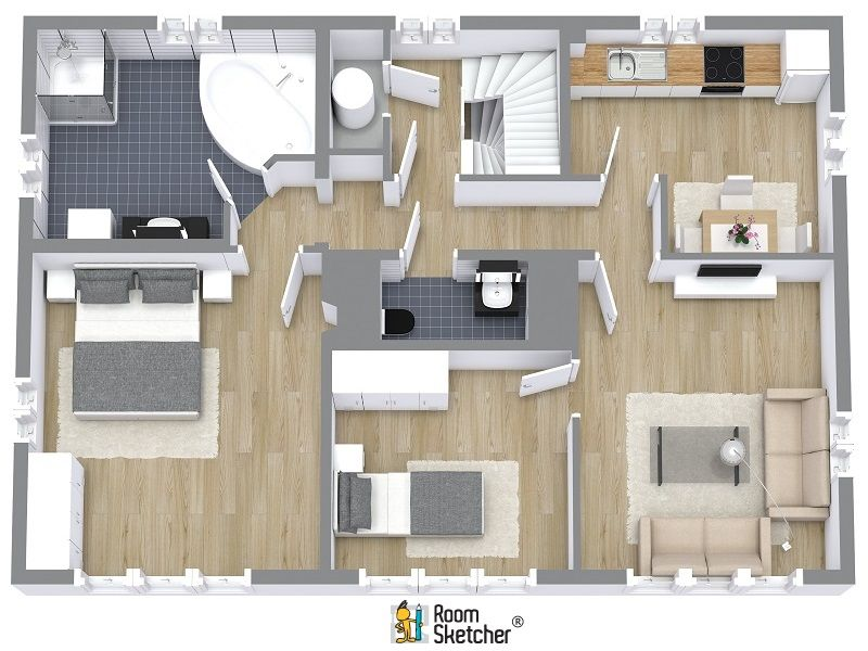 Pin by RoomSketcher on Real Estate Floor Plans Pinterest - new interior blueprint maker
