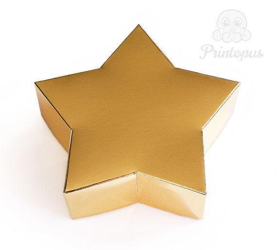 Star Shape Printable Gift Box Template PDF Digital by Printopus - star template