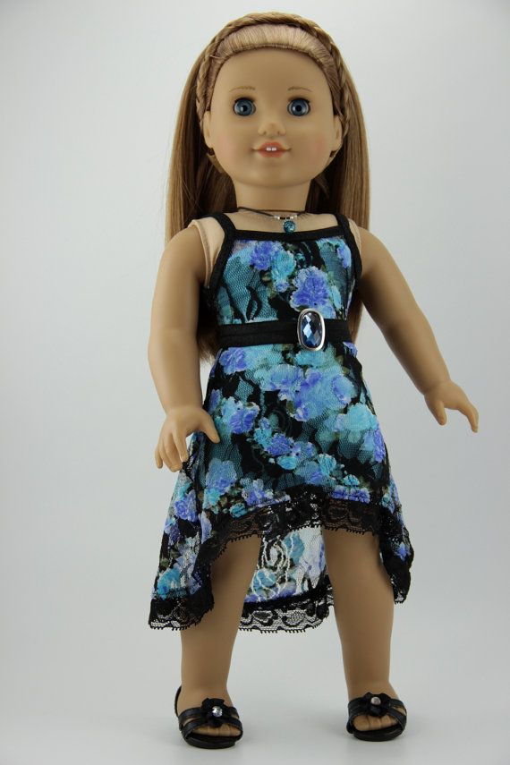 d6fa0585ce0 American Girl doll clothes - High low strappy dress outfit (fits 18