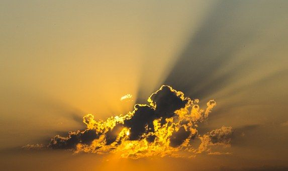 Cloud, Obloha, Žltá, Lúč, Sunbeam