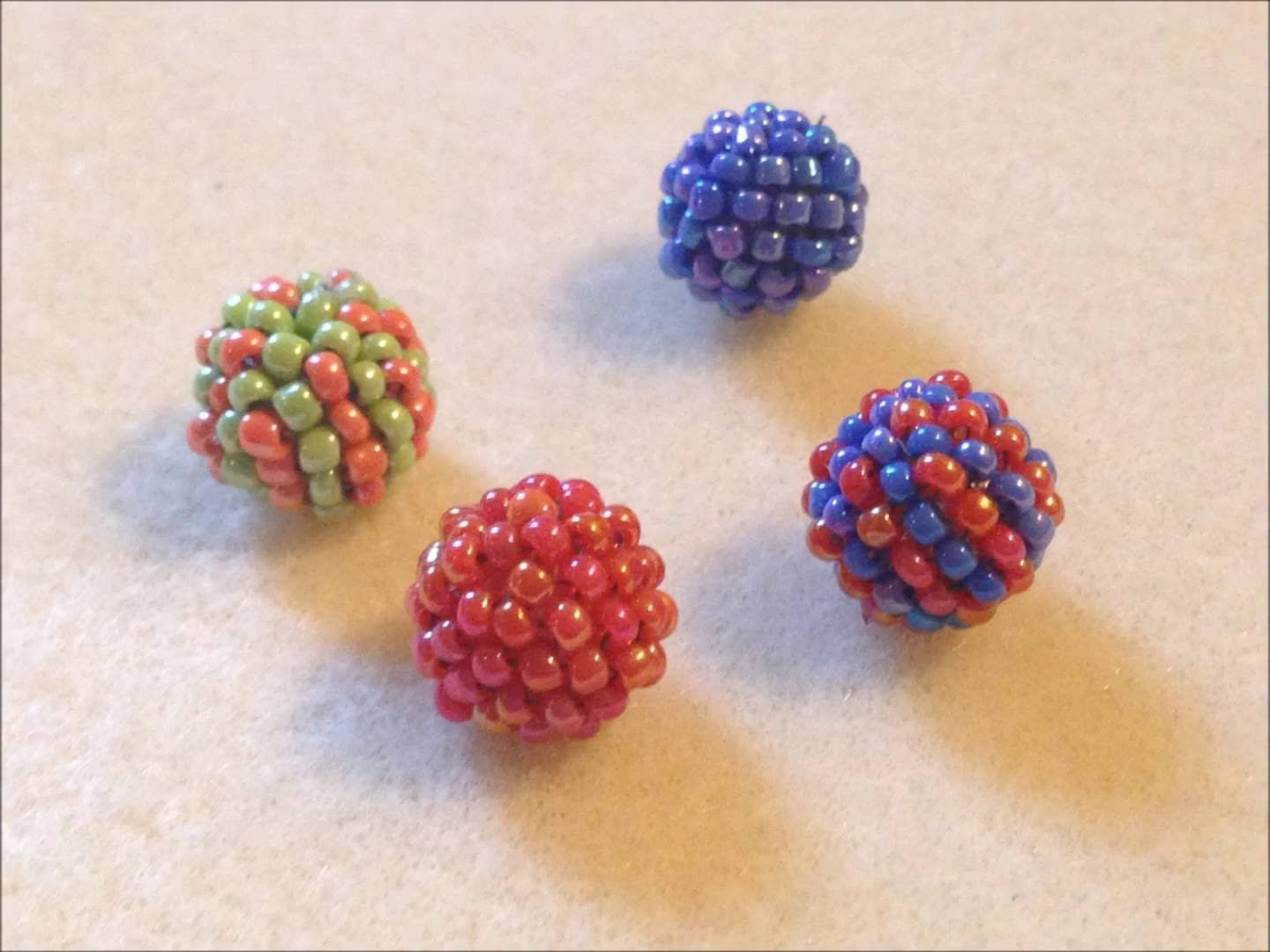 This tutorial will help you to make beaded balls which can be used for making different kind of jewelries or can be used for decoration items. https://youtu....