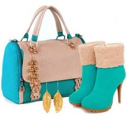 Beautiful Colour and design combination of Shoes and bag..