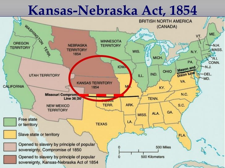 The KansasNebraska Act was passed by the US Congress on May 30